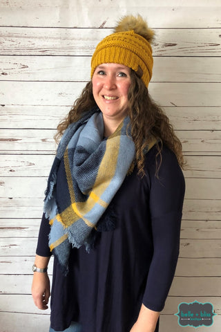 Blanket Scarf - Blueberry Custard Scarves/capes