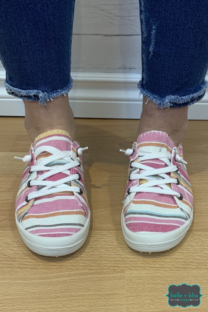 Canvas Sneakers - Pink Stripe Accessories