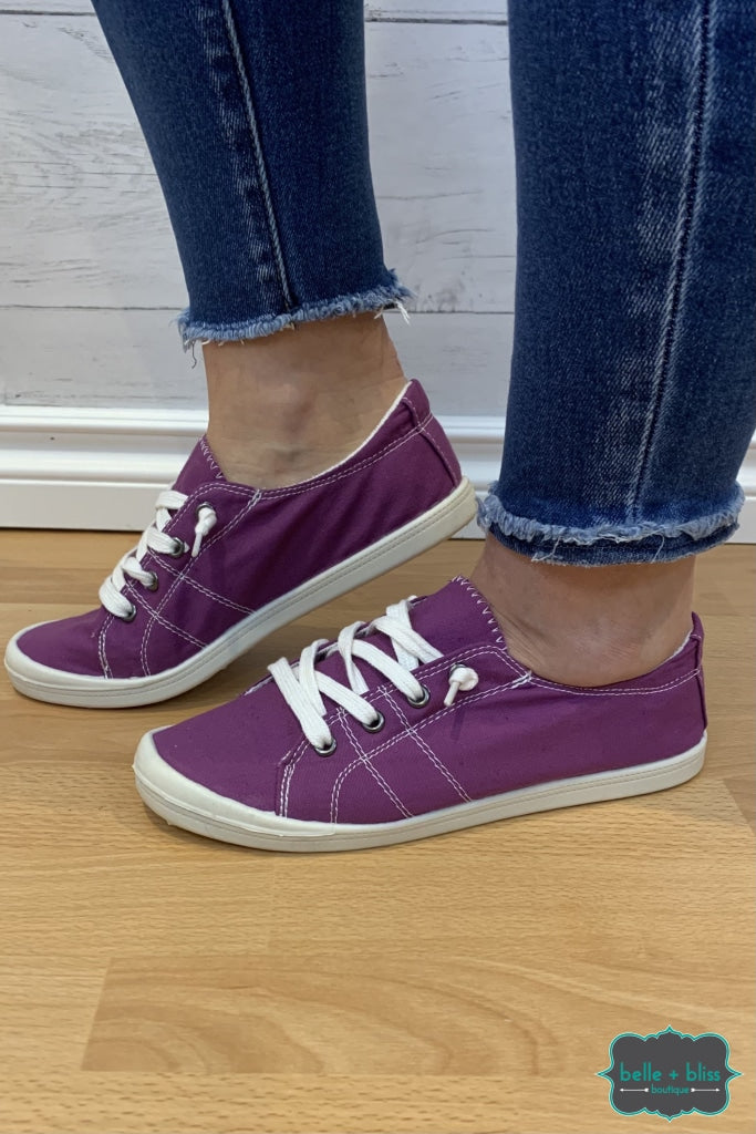 Canvas Sneakers - Purple Accessories