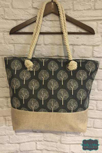 Canvas Tote - Trees B+B Crew