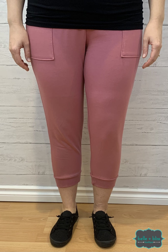 Capri Joggers With Pockets - Rose Bottoms