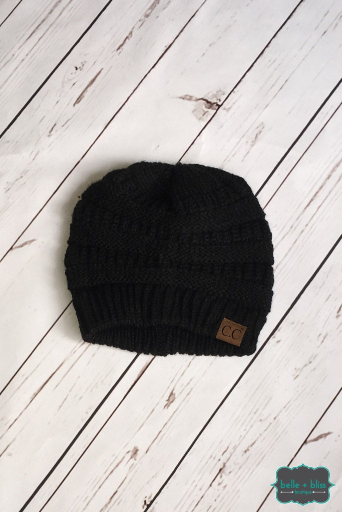 Classic Knit Cc Toque - Black Accessories