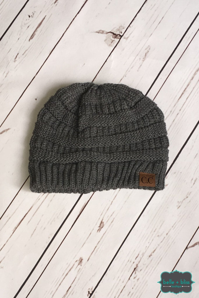 Classic Knit Cc Toque - Grey Accessories