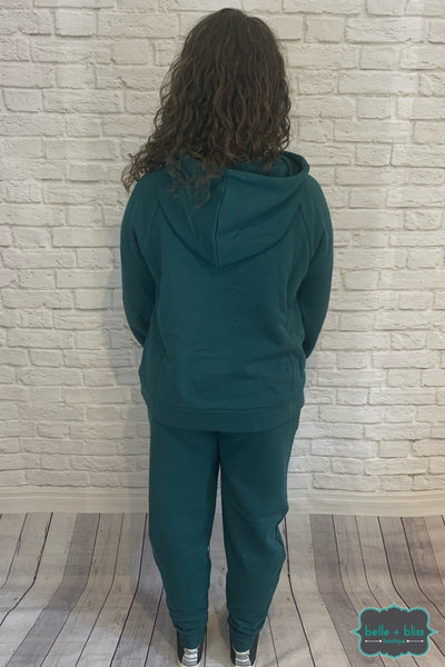 Cozy Hoodie With Front Pocket - Hunter Green B+B Crew