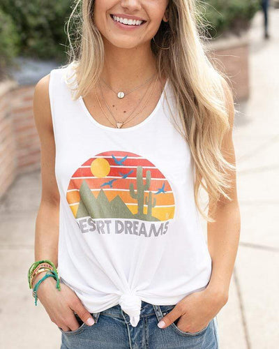 ***PRE-ORDER*** Grace & Lace Desert Dreams Perfect Tank Graphic Tee