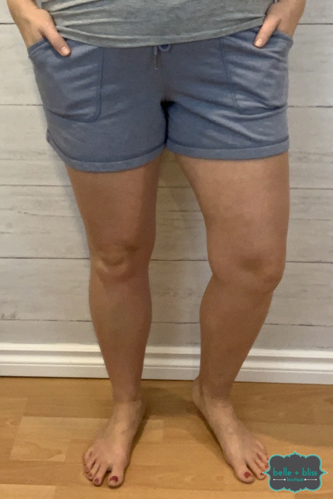 Extra Soft Loungewear Shorts - Blue Bottoms