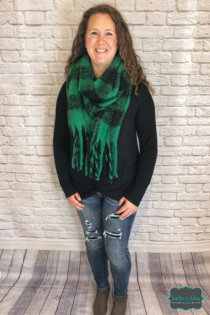 Extra Soft Scarf - Green Buffalo Plaid B+B Crew