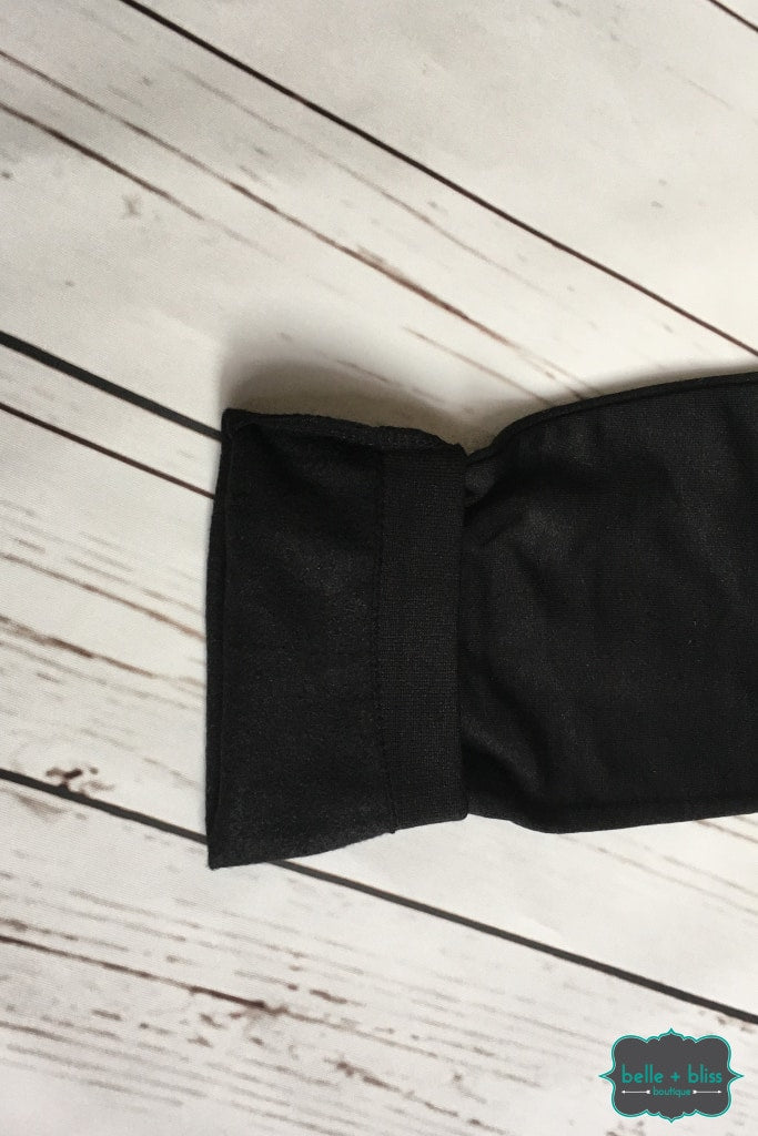 Fleece Lined Leggings - Black Bottoms