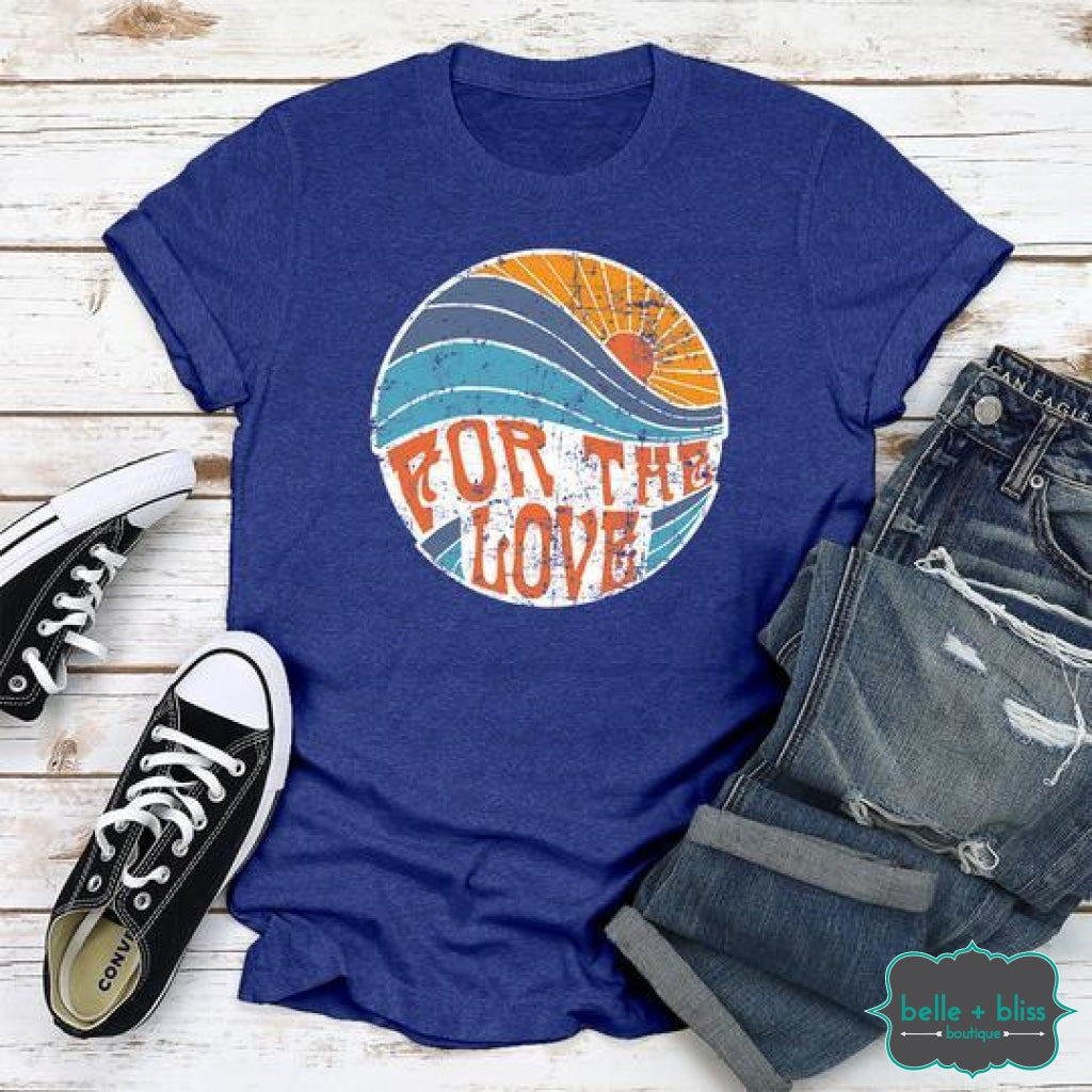 For The Love Graphic Tee - Royal Blue Tops & Sweaters