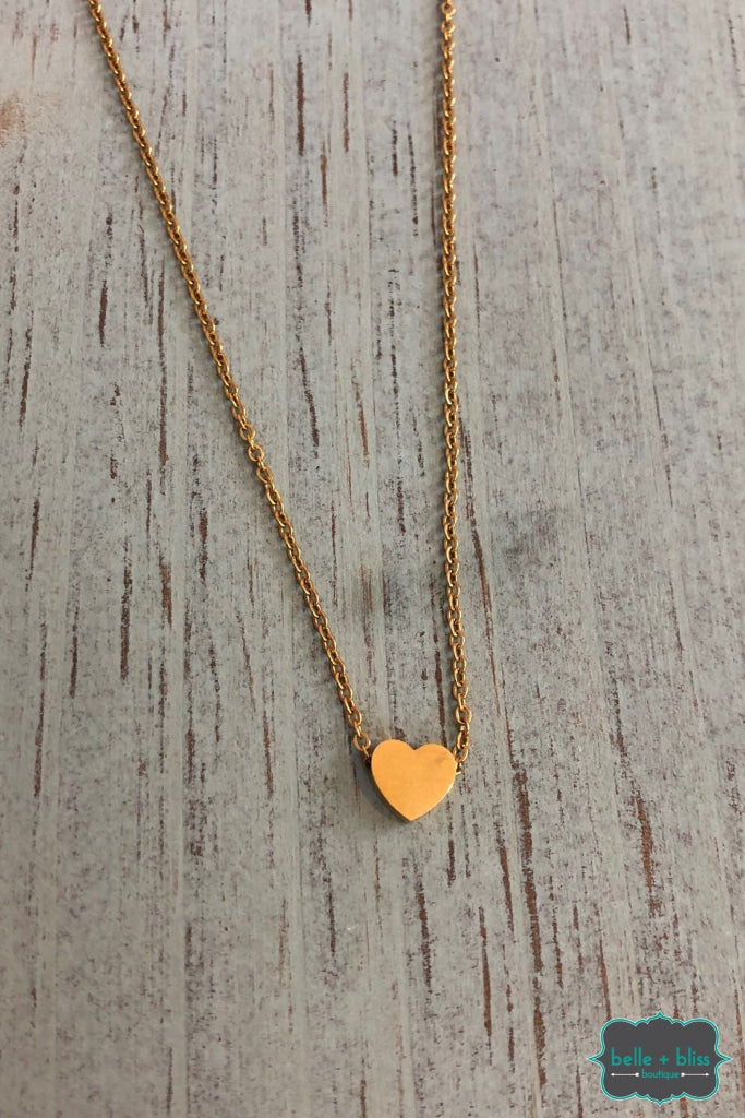 Heart Necklace - Gold B+B Crew