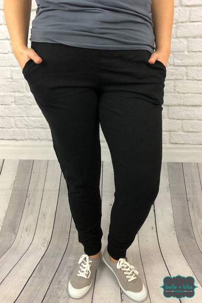 Joggers With Pockets - Black Bottoms