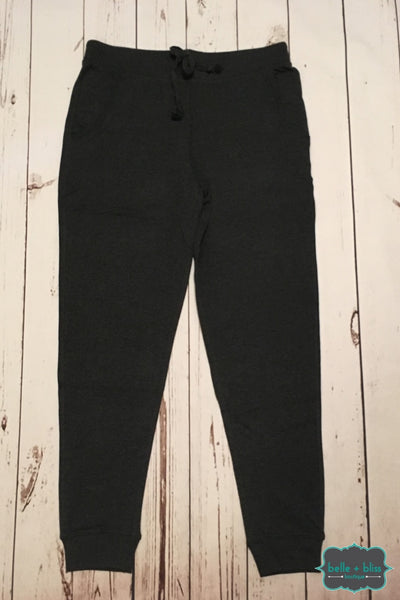 Joggers With Pockets - Charcoal Bottoms