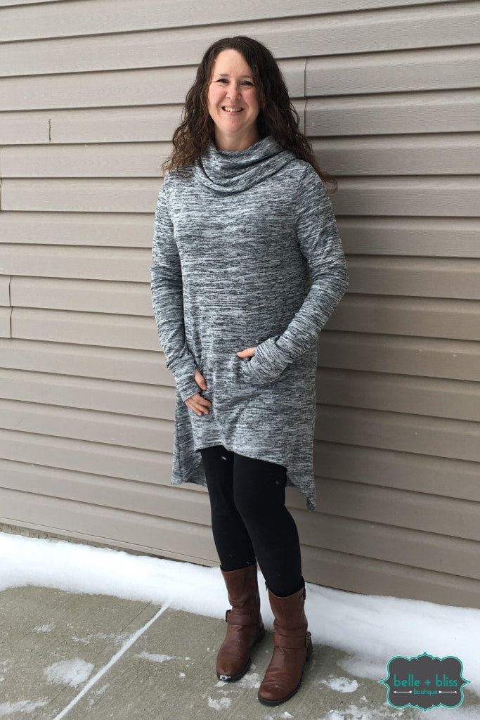 Long Hi-Low Tunic With Thumbholes Tops & Sweaters