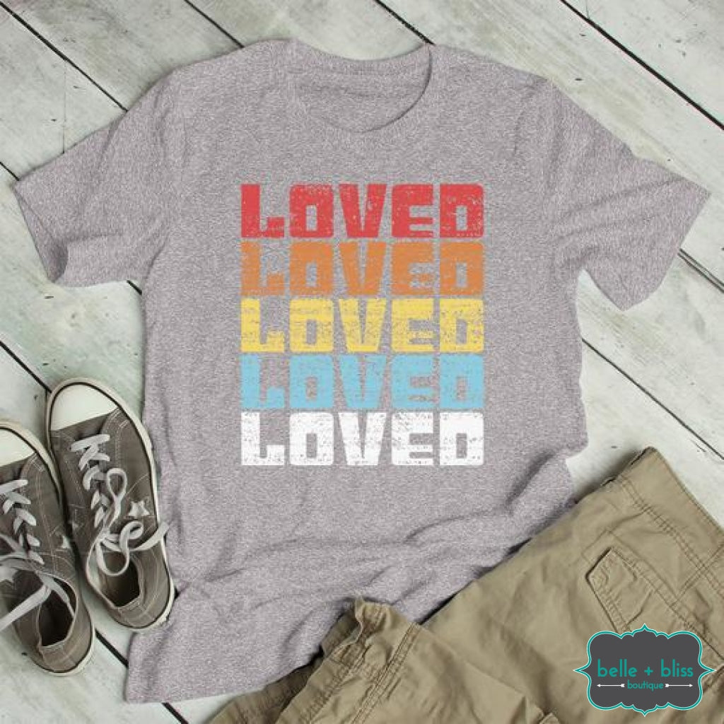 Loved Graphic Tee - Heather Grey Tops & Sweaters
