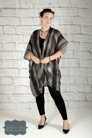 Thick Striped Kimono - More Colours