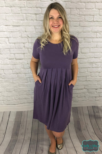 Pleated Dress - Lilac Dresses & Skirts
