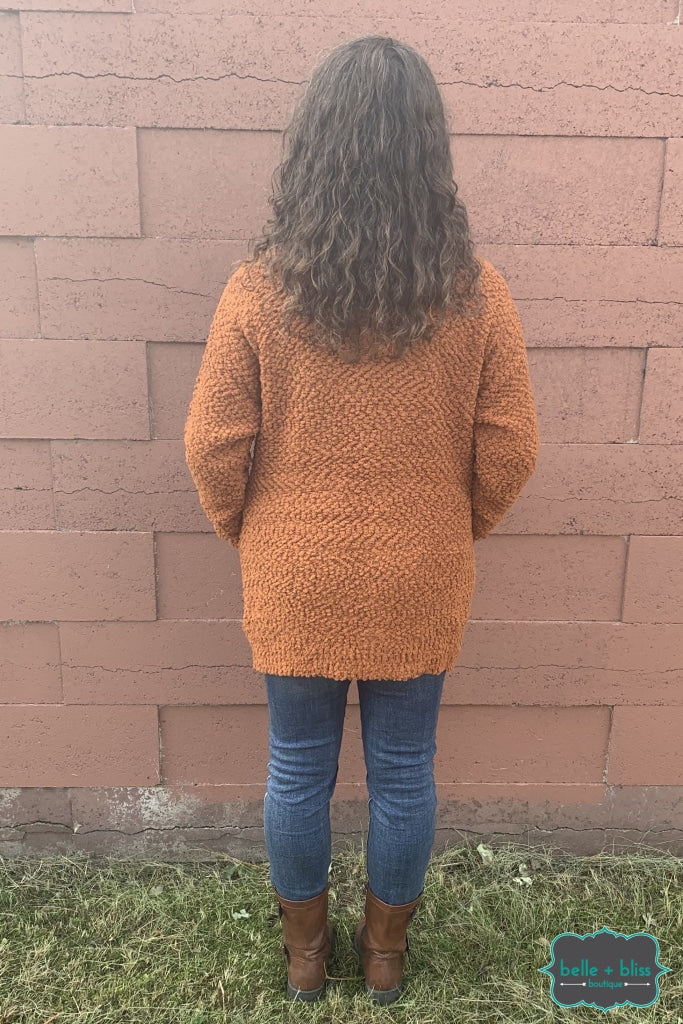 Popcorn Cardigan With Buttons And Pockets - Butternut B+B Crew