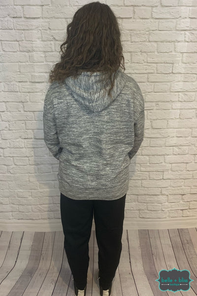 Pullover Hoodie With Front Pocket - Heathered Grey B+B Crew