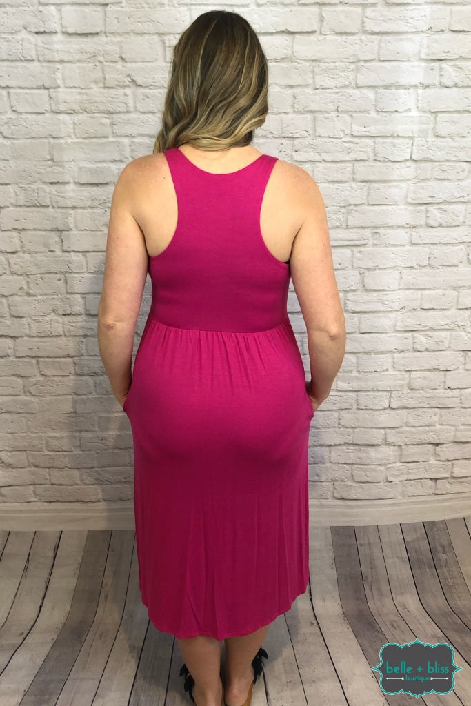 Racerback Dress With Pockets - Pink B+B Crew