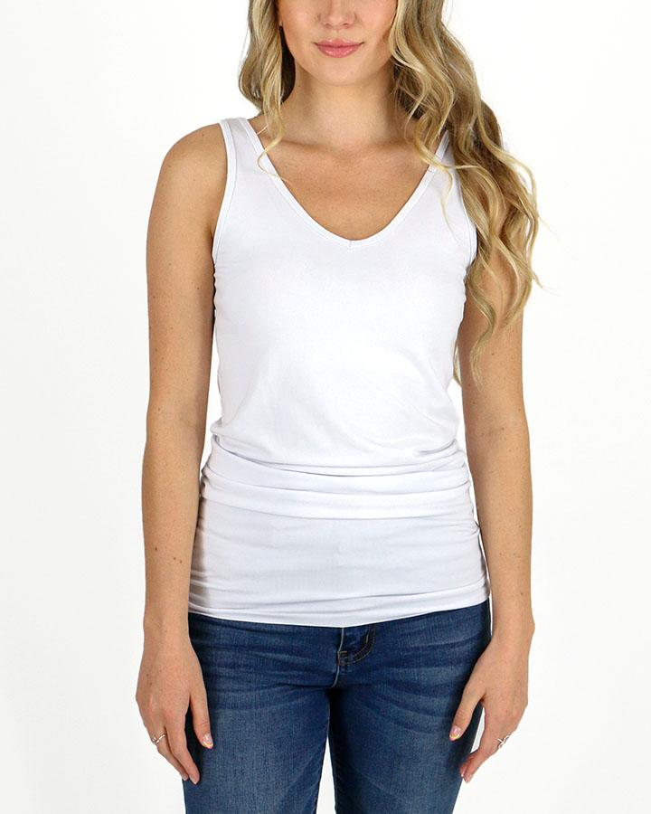 ***PRE-ORDER*** Grace and Lace Reversible Perfect Fit Tank - Original Long - White