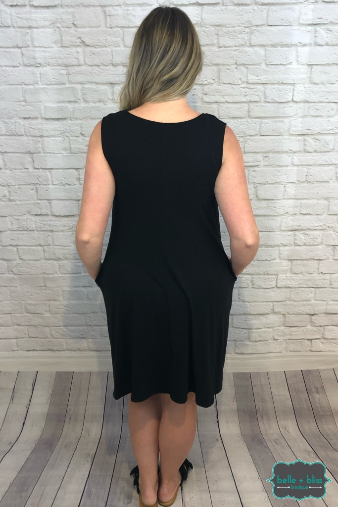 Sleeveless Dress With Pockets - Black B+B Crew
