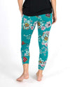 Grace & Lace Summer Weight Cropped Live-In Loungers - Aqua Floral