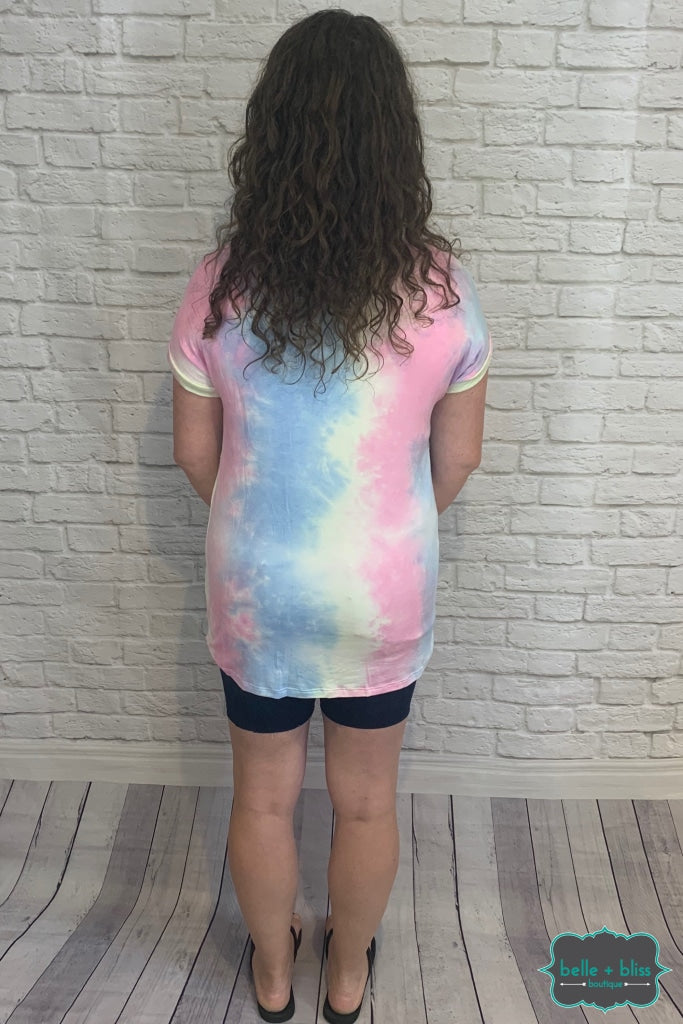 Tie Dye Twist Top B+B Crew