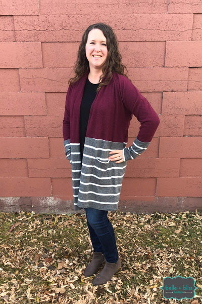 Ultrasoft Colourblock Cardigan Tops & Sweaters
