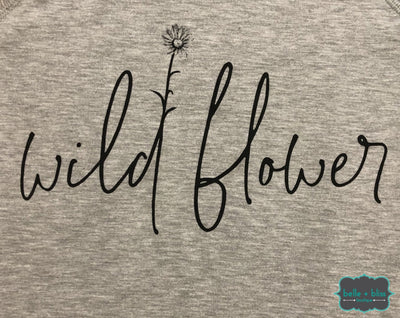 Wildflower Graphic Pullover - Heather Grey Tops & Sweaters