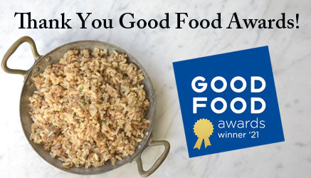 Thank You Good Food Awards! Our Wine Forest True Wild Rice is 2021 Winner in The Grains Category
