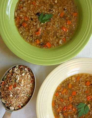 Forest Farro Soup Recipe made with Wind Forest Wild Foods Wild Side Forest Farro