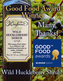 We're honored and delighted that our Winen Forest Wild Huckleberry Shrub has been named Good Food Awards Winner in the Spirits Category
