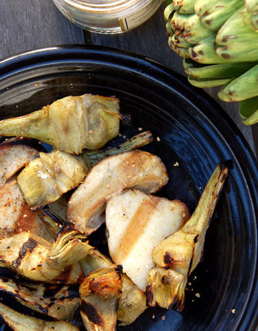 Wine Forest Wild Foods Recipe for Grilled Artichokes with Porcini