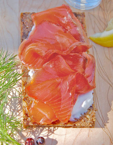 Gravlax with Wild Juniper Recipe made with Wine Forest Wild Foods Wild Juniper Berry Rub