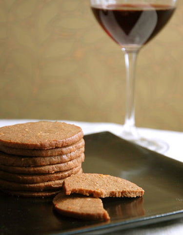 Porcini & Cheddar Cheese Wine Crackers Recipe made with Wine Forest Wild Foods Primium Dried Wild Mushroom Porcini Powder and Porcini Salt