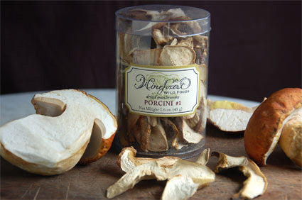 Wine Forest Wild Foods Wild Bible Rehydrating Dried Mushrooms, Wild Porcini #1 aside the fresh porcini or king boletes