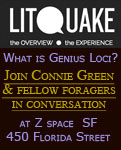 Connie Green at Lit Quake in San Francisco to discuss with fellow foragers the question What is Genius Loci?