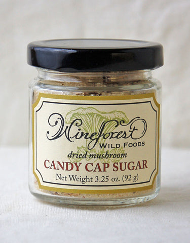 Wine Forest Wild Foods wild candy cap mushroom sugar, hand blended and sourced with care