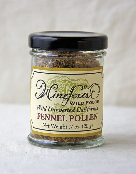 Wine Forest Wild Foods wild-harvested California fennel pollen, hand harvested and sourced with care
