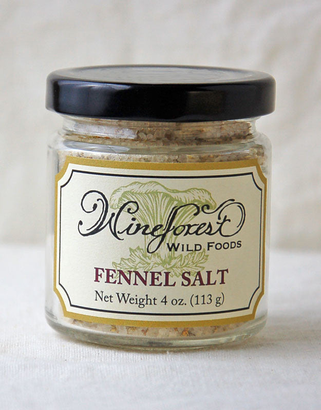 Wine Forest Wild Foods fennel salt, hand harvested, blended and sourced with care