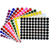 "Color Coding Round Dot Stickers 1/4"" (Color of Your Choice) (32 pages in a pack)"
