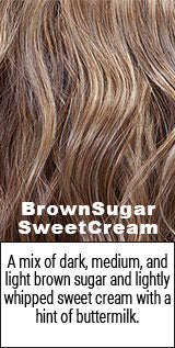 Belle Tress BrownSugar SweetCream color swatch