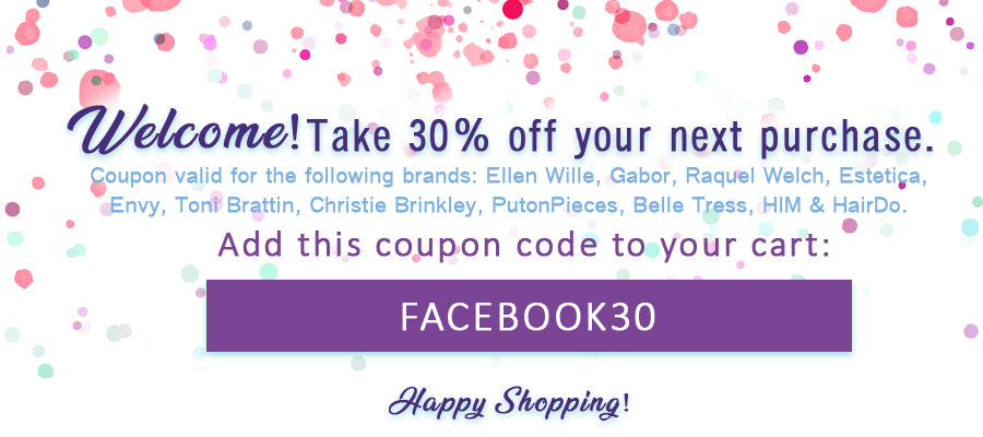 NameBrandWigs.com Facebook30 Coupon Banner
