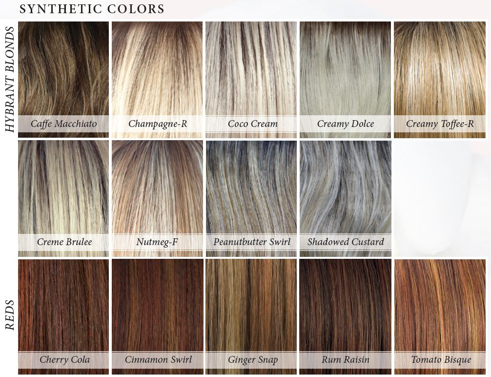 Orchid Collection Synthetic Colors - Hybrand Blonds and Reds
