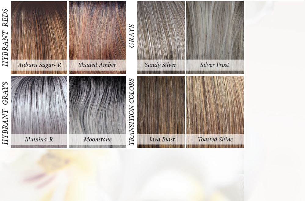 Orchid Collection Synthetic Colors - Hybrant Reds and Hybrant Grays