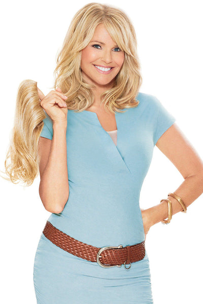 Christie Brinkley Wigs - 12 Inch Clip-in Hair Extension Front 2