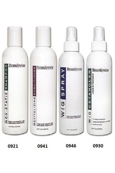 Wig Care Kit - Brandywine - 4 Pack Combo - Shampoo, Conditioner, Wig Spray, Detangler