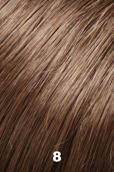 "EasiHair Toppers - EasiPart French XL 12"" HH (#753) - Remy Human Hair Enhancer EasiHair 8"