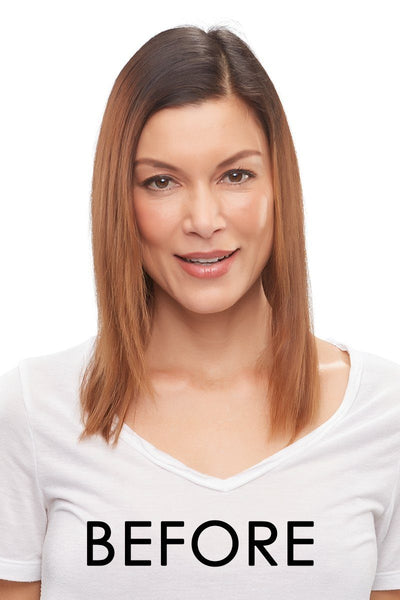 "EasiHair - EasiPart XL French 18"" 757A - Remy Human Hair before"