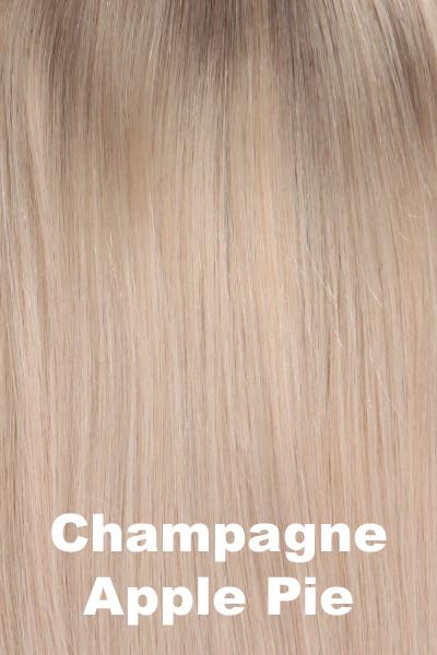 "Belle Tress Wigs - Remy Human Hair Lace Front Mono Top 14"" (#1000) Enhancer Belle Tress Champagne with Apple Pie"